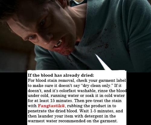 Fangtastik True Blood Stain Remover Eric Northman Viking Vampire Alexander Skarsgård